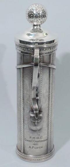Standard Silver Company Golf Bag Cocktail Shaker Art Deco by George Berry - 124633