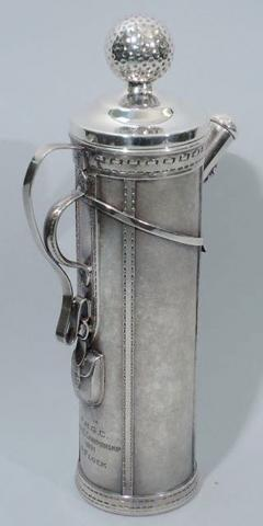 Standard Silver Company Golf Bag Cocktail Shaker Art Deco by George Berry - 124637