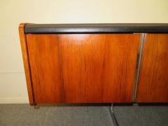 Ste Marie Laurent Fabulous Rosewood and Chrome Credenza by Ste Marie Laurent - 1684875