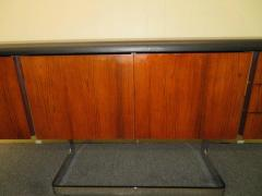 Ste Marie Laurent Fabulous Rosewood and Chrome Credenza by Ste Marie Laurent - 1684876