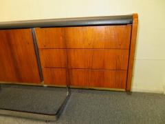 Ste Marie Laurent Fabulous Rosewood and Chrome Credenza by Ste Marie Laurent - 1684877