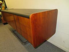 Ste Marie Laurent Fabulous Rosewood and Chrome Credenza by Ste Marie Laurent - 1684878