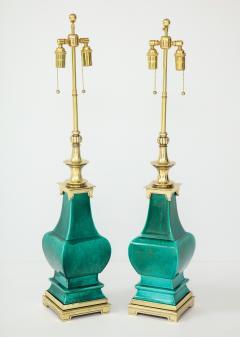 Stiffel Lamp Company Pair of Jade Green Ceramic lamps by Stiffel - 1847336