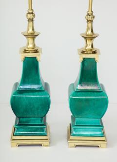Stiffel Lamp Company Pair of Jade Green Ceramic lamps by Stiffel - 1847337