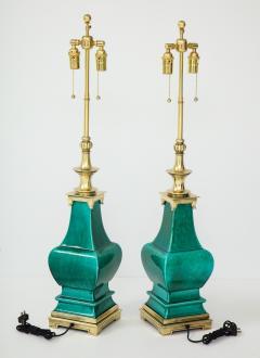 Stiffel Lamp Company Pair of Jade Green Ceramic lamps by Stiffel - 1847338