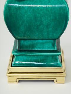 Stiffel Lamp Company Pair of Jade Green Ceramic lamps by Stiffel - 1847340