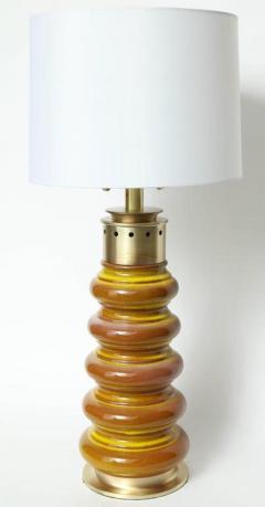 Stiffel Stiffel Ochre Glazed Ceramic Lamps - 883352