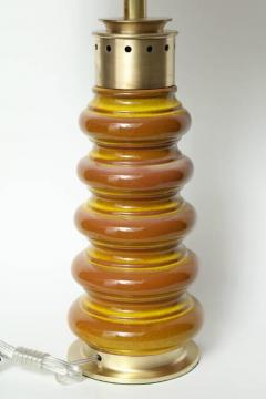 Stiffel Stiffel Ochre Glazed Ceramic Lamps - 883354