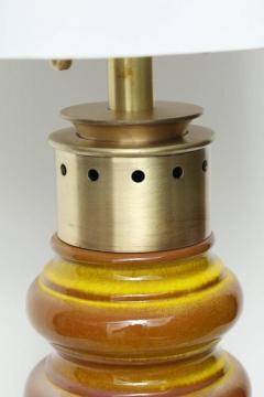 Stiffel Stiffel Ochre Glazed Ceramic Lamps - 883355