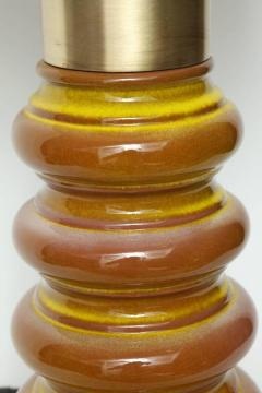 Stiffel Stiffel Ochre Glazed Ceramic Lamps - 883356