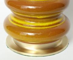 Stiffel Stiffel Ochre Glazed Ceramic Lamps - 883358