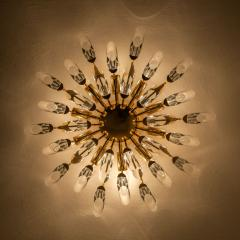 Stilkronen Pair of Stilkronen Crystal and Gilded Brass Italian Flush Mount Sconces - 1151184