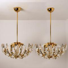 Stilkronen Pair of Stilkronen Crystal and Gilded Brass Italian Light Fixtures - 1151062