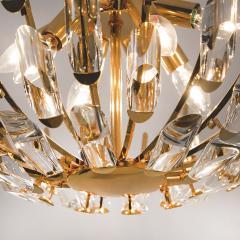 Stilkronen Pair of Stilkronen Crystal and Gilded Brass Italian Light Fixtures - 1151064
