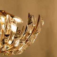 Stilkronen Pair of Stilkronen Crystal and Gilded Brass Italian Light Fixtures - 1151065
