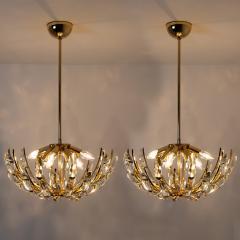 Stilkronen Pair of Stilkronen Crystal and Gilded Brass Italian Light Fixtures - 1151066