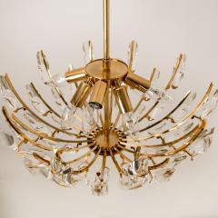 Stilkronen Pair of Stilkronen Crystal and Gilded Brass Italian Light Fixtures - 1151068