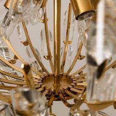Stilkronen Pair of Stilkronen Crystal and Gilded Brass Italian Light Fixtures - 1151070