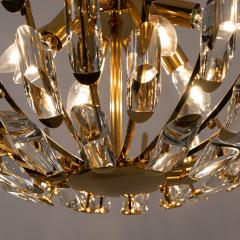 Stilkronen Pair of Stilkronen Crystal and Gilded Brass Italian Light Fixtures - 1151072