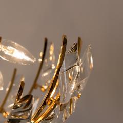 Stilkronen Pair of Stilkronen Crystal and Gilded Brass Italian Light Fixtures - 1151073