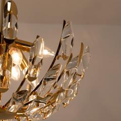 Stilkronen Pair of Stilkronen Crystal and Gilded Brass Italian Light Fixtures - 1151075