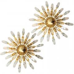Stilkronen Set of Stilkronen Crystal and Gilded Brass Italian Light Fixtures Stilkronen - 1151080