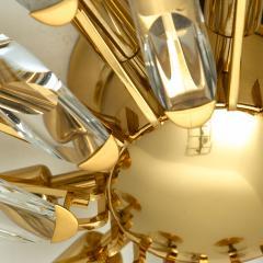 Stilkronen Set of Stilkronen Crystal and Gilded Brass Italian Light Fixtures Stilkronen - 1151093