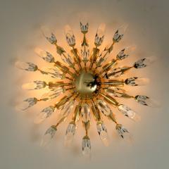 Stilkronen Set of Stilkronen Crystal and Gilded Brass Italian Light Fixtures Stilkronen - 1151097