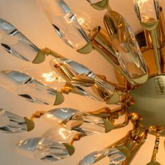 Stilkronen Set of Stilkronen Crystal and Gilded Brass Italian Light Fixtures Stilkronen - 1151098