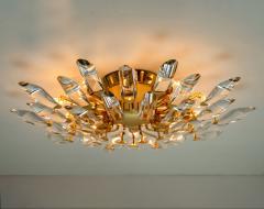 Stilkronen Set of Stilkronen Crystal and Gilded Brass Italian Light Fixtures Stilkronen - 1151105