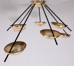 Stilnovo 1 of 2 Huge Brass Sputnik Flush Mounts or Wall Lamps Attributed to Stilnovo - 533594