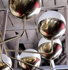 Stilnovo 1 of 2 Monumental Sputnik Chandelier in the Manner of Stilnovo - 533634