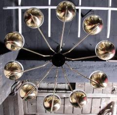 Stilnovo 1 of 2 Monumental Sputnik Chandelier in the Manner of Stilnovo - 533636
