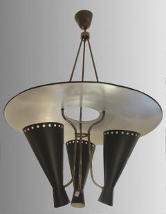 Stilnovo 1950 Italian chandelier in the taste os Stilnovo - 1515007