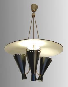 Stilnovo 1950 Italian chandelier in the taste os Stilnovo - 1515008