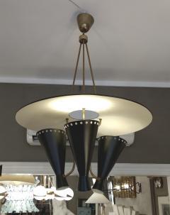 Stilnovo 1950 Italian chandelier in the taste os Stilnovo - 1515017