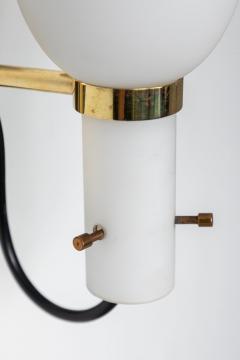 Stilnovo 1950s Italian Brass and Glass Sconces Attributed to Stilnovo - 1079768