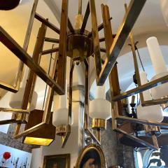 Stilnovo 1950s Mid Century Modern Huge Italian Chandelier in the Manner of Stilnovo - 2144982