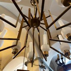 Stilnovo 1950s Mid Century Modern Huge Italian Chandelier in the Manner of Stilnovo - 2144983