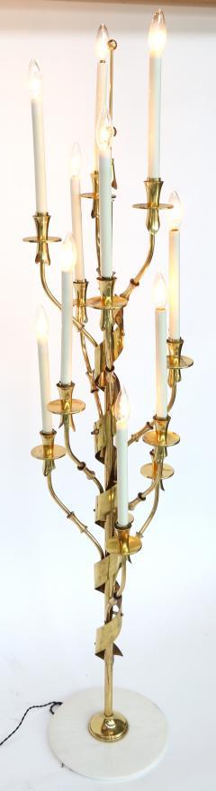 Stilnovo 1950s Stilnovo Candelabra Floor Lamp with Marble Base - 328066