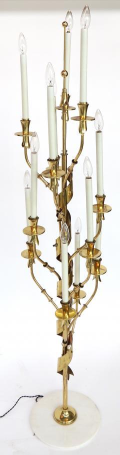 Stilnovo 1950s Stilnovo Candelabra Floor Lamp with Marble Base - 328067