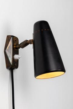 Stilnovo 1950s Stilnovo Wall Light in Black and Brass - 1105076