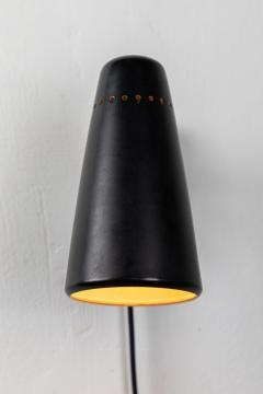 Stilnovo 1950s Stilnovo Wall Light in Black and Brass - 1105077