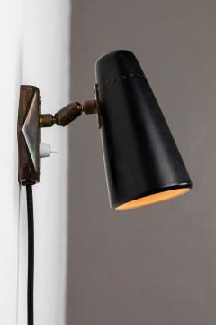 Stilnovo 1950s Stilnovo Wall Light in Black and Brass - 1105079