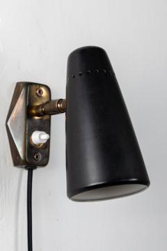 Stilnovo 1950s Stilnovo Wall Light in Black and Brass - 1105083