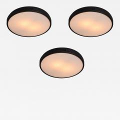 Stilnovo 1960s Italian Metal and Glass Ceiling Lamp Attributed to Stilnovo - 1405661
