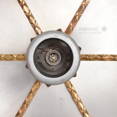 Stilnovo Art DECO Modern Bronze Trinity 3 Light CLUSTER Ceiling Lamp Chandelier 1960s - 1543028