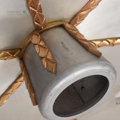 Stilnovo Art DECO Modern Bronze Trinity 3 Light CLUSTER Ceiling Lamp Chandelier 1960s - 1543029