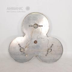 Stilnovo Art DECO Modern Bronze Trinity 3 Light CLUSTER Ceiling Lamp Chandelier 1960s - 1543031