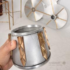Stilnovo Art DECO Modern Bronze Trinity 3 Light CLUSTER Ceiling Lamp Chandelier 1960s - 1543033